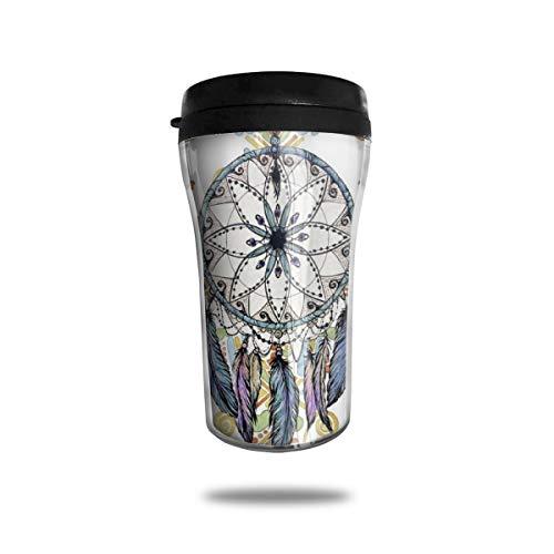 OUYouDeFangA - Taza de café con diseño clásico de lémures de Viaje, con impresión 3D, Taza portátil al vacío, Taza de té, Vasos de Agua aislados para Beber con Tapa, 250 ml