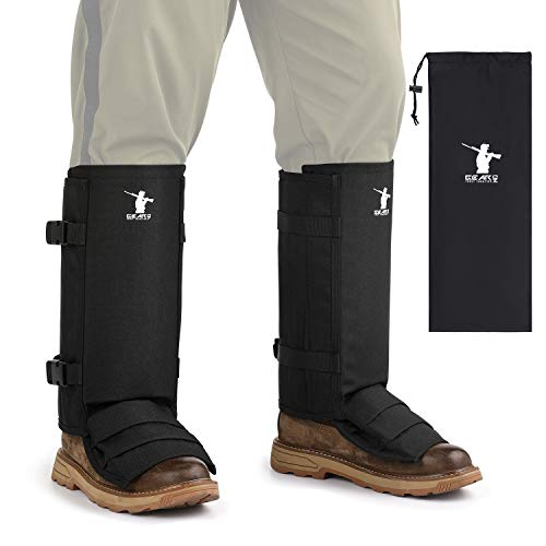 GearOZ Snake Gaiters, Waterproof Snake Guards for Lower Legs, Snake Bite Protection Chaps with 12 Individual PE Panels for Hunting Hiking and Farm Working