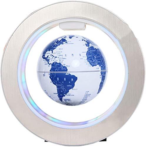 KJHG Bola de porcelana de 15,2 cm, color azul y blanco, con iluminación LED multicolor, interruptor creatividad, globo flotante