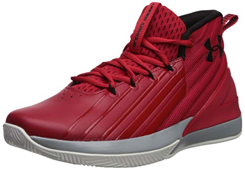 Under Armour Lockdown 3, Zapatos de Baloncesto Hombre, Rojo (Red/Mod Gray/Black (600) 600), 42.5 EU