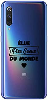ZOKKO Case for Xiaomi MI 9 Elue Pire Saison du Monde Soft Transparent Ink Black