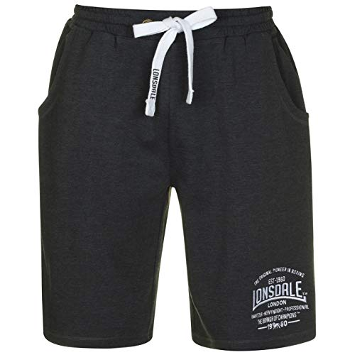 Lonsdale Herren Boxing Shorts Boxen Kurze Hose Sport Trainingshose Sporthose Grau Large