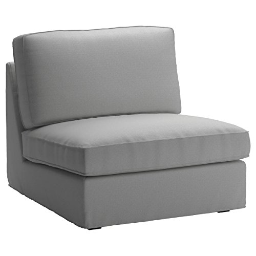 Cotton Replacement IKEA Kivik 1 Seater Sofa Chair Cover. Quality Sofa Cover Compatible to Kivik Armchair Slipcover (Lighter Gray)