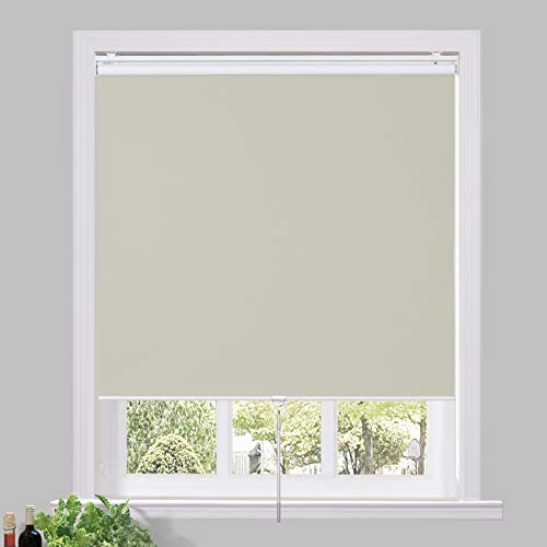 Drapifytex 100% Blackout Blinds Shade for Window Light Filtering Thermal Insulated Shades for Office, 30