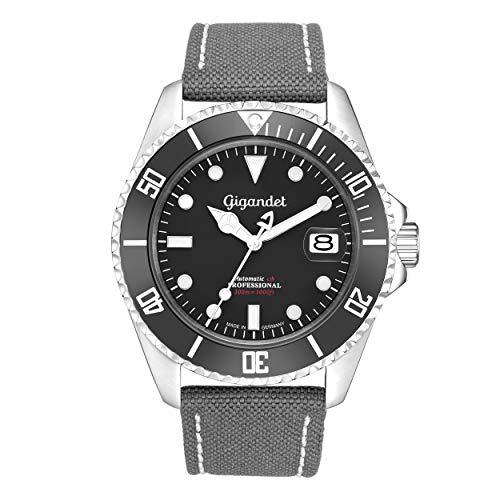 Gigandet Herren Uhr Automatik SEA Ground 300 Saphirglas Analog - Made in Germany - G300-001