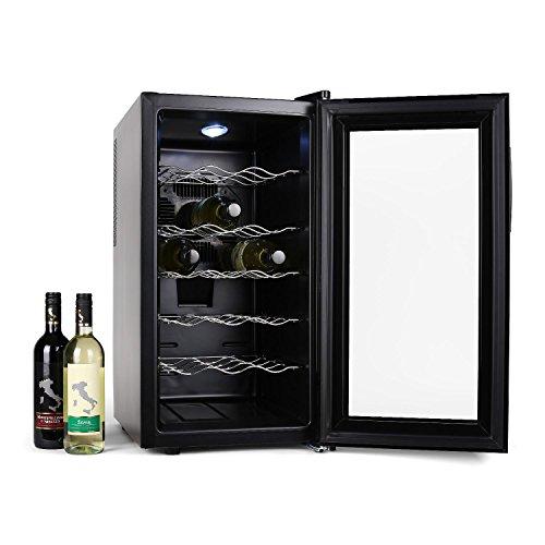 Klarstein Vivo Vino - refroidisseurs à vin (Autonome, Noir, Transparent, 11-18 °C, N, B, Noir)