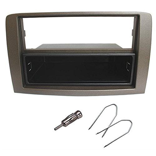 Kit montaggio autoradio quadro di Radio Stereo 1DIN FIAT IDEA 2003/LANCIA MUSA Grigio/Dark Silver
