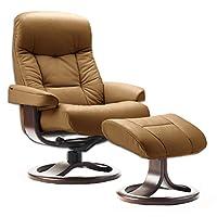 Fjords Leather Norwegian Ergonomic Scandinavian Lounge Reclining Chair 215