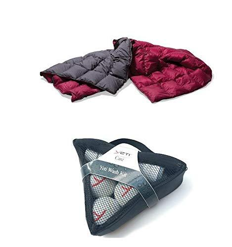 Yeti Duvet Packable Down Blanket Ash coal/ Garnet Red
