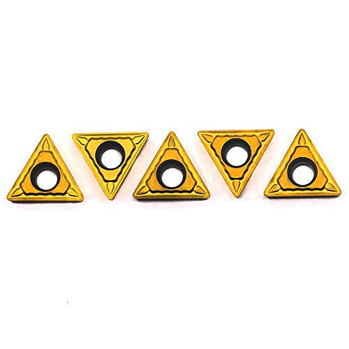 OSCARBIDE TCMT110204(TCMT21.51) Carbide Turning Inserts TCMT Insert Tain Coated CNC Lathe Inserts for Lathe Turning Tool Holder Replacement Insert, 5 Pieces