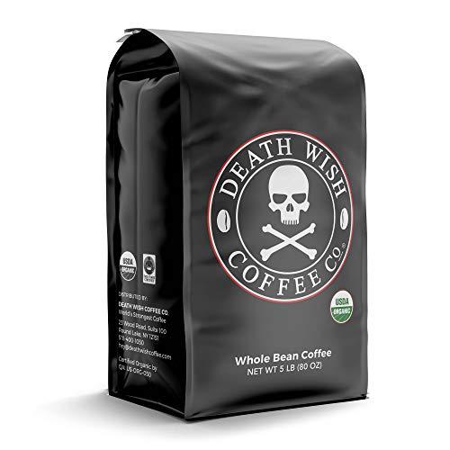 DEATH WISH COFFEE Whole Bean Coffee [5 Lbs.] The...