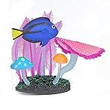 Paisajismo del tanque de peces, gel de sílice artificial artificial subacuático luminoso colorido decoración de los peces, decoración del tanque de peces, simulación de anémonas subacuáticas