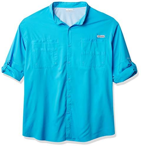 Columbia Camisa de Manga Larga Tamiami II para Hombre, Hombre, Camisetas atléticas, 1286061, Riptide, XS