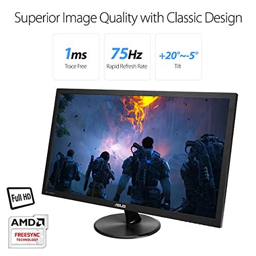 "ASUS VP278QG 27"" Full HD 1920x1080 1ms DP HDMI VGA Adaptive Sync/FreeSync Eye Care Monitor"
