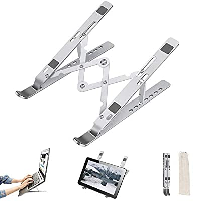 Laptop Stand, TRONICMASTER Adjustable Computer Riser Portable Tablet Holder for Desk Bed 7 Adjustable Angles for MacBook Pro Air, Lenovo, HP, Dell