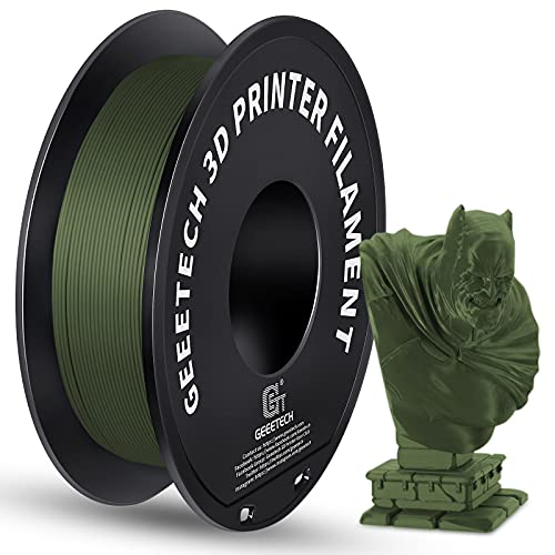 GEEETECH Matte PLA Filament, 1.75mm Matte Green 3D Printer Filament, 1kg Spool (2.2lbs), Dimensional Accuracy +/- 0.03 mm, Fit Most FDM Printer