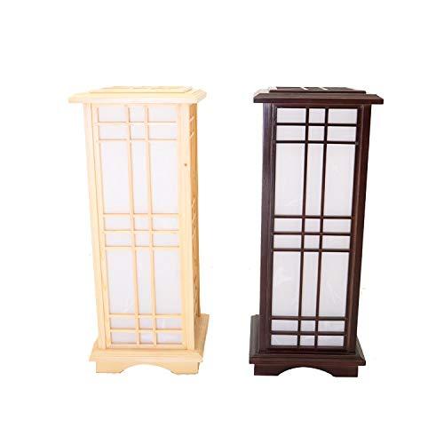 BJLWTQ Lámpara de pie de Estilo japonés Luz de Madera Iluminación Interior Inicio Diseño Decorativo Linterna E27 Lámpara de pie Lámpara de Madera Luminaria Compatible con Hotel