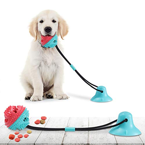 CAMTOA Dog Chew Toys for Aggressive Chewers, Suction Cup Dog Chewing...