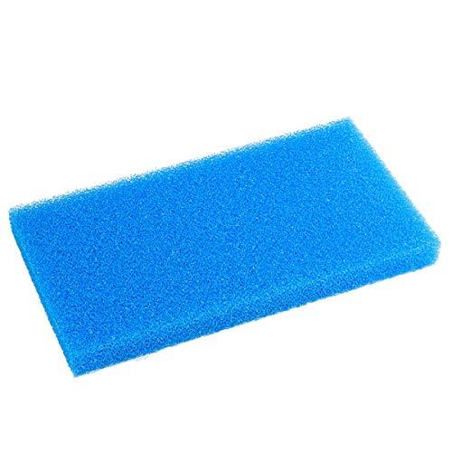 "AQUANEAT Aquarium Open Cell Foam Sheet Bio Sponge Filter Media Pad HMF Fish Tank Sump Divider 23"" x 12.25"" x 2"" (Large, Blue)"