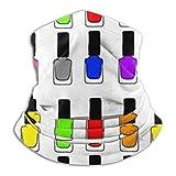 XCVD Vernis à ongles arc-en-ciel confort cache-cou en microfibre multifonctionnel, protections faciales sportives, masque anti-vent anti-poussière bouche masque magique foulard cache-cou cache-tê