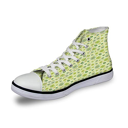 GULTMEE High Top Classic Casual Canvas Sneakers Schnürschuhe Casual Walking Schuhe, abstrakte...