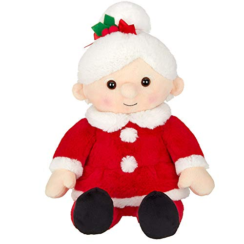 Bearington Mrs Santa Claus Stuffed Christmas Plush, 15 Inches