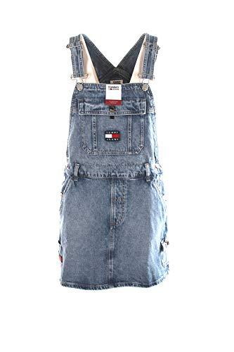 Tommy Jeans Damen Latzkleid Stoned Blue (81) XS