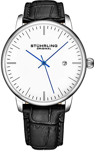 Stuhrling Original Mens Watch Calfskin Leather Strap - Dress + Casual Design...