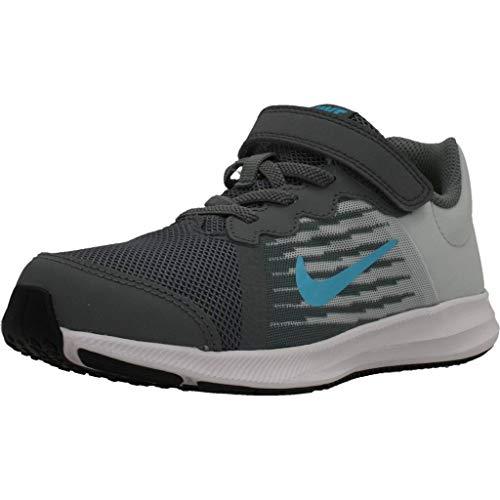 Nike Downshifter 8 (PSV), Zapatillas de Atletismo para Niños, Multicolor (Cool Grey/Blue Fury/Pure Platinum/White 012), 33.5 EU
