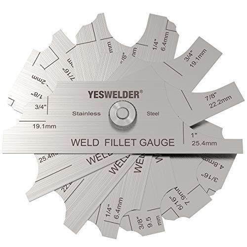 YESWELDER MG-11 Metal Weld Fillet Gages Set (7PCS) 1/8