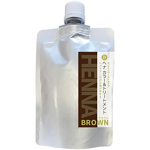 オーガニックヘナ使用 【日本製】Beヘナ ブラウン カラー&トリートメント140g Be*cloth (ブラウン)