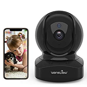 wansview WiFi IP Camera Q5 1080P Wireless Home Security Camera for Baby/Elder/Pet Camera Monitor with Motion Detection 2-Way Audio Night Vision Pan/Tilt/Zoom, Works with Alexa
