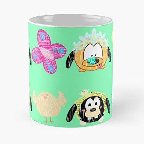 Taza de café de cerámica con diseño de animales Tsum Teenager Tsumtsum Best de 315 ml, para comer y morder, John Best de 315 ml