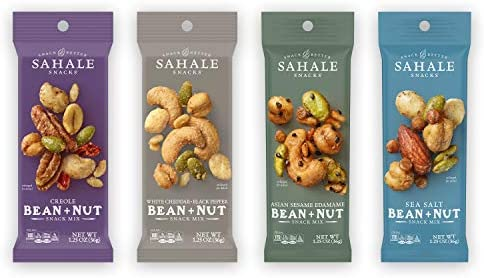 Sahale Snacks Bean Nut Snack Mix Variety Pack 1 25 Ounces Pack of 12 product image