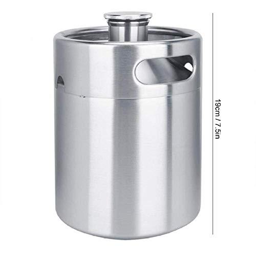41avMQnu5FL - Nfudishpu Moka Kaffeekanne 2L Edelstahl Stickstofffass Kaffeefass Home Brew Kaffeesystem Kit Zubehör Milchkännchen für Kaffeewerkzeuge