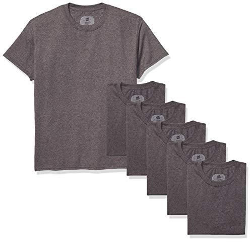Hanes Men's ComfortSoft Short Sleeve T-Shirt (6 Pack), Charcoal Heather, Medium