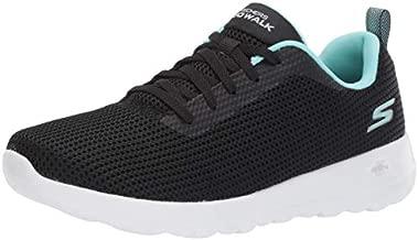 Skechers Women's GO Walk JOY-15641 Sneaker, Black/Aqua, 7 M US