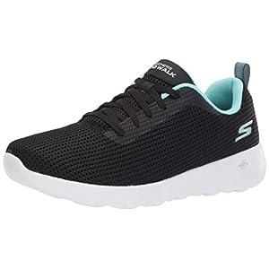 Skechers Women's GO Walk JOY-15641 Sneaker, Black/Aqua, 8 M US