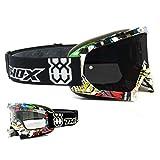 Gafas Race MX protectoras para motocross y enduro de Two-X, con cristal de...