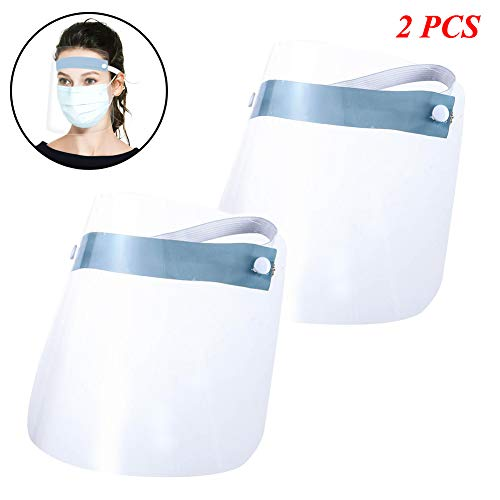Luixxuer 1/2/4/10PC Full Face Shield Mask Clear Flip Up Visor Protection Safety Work Guard for Droplet, Dust,Oil Fume -  Exquisite Gift