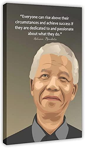 Póster De Nelson Mandela Con Citas Motivacionales Imagen Lienzo Arte De La Pared Decoración Pinturas Para La Sala De Estar Decoración Del Hogar Impresiones Decoración Del Dormitorio Sin Marco