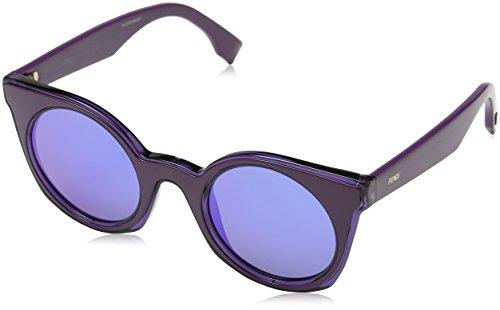 FENDI FF 0196/S P6 KEO Gafas de sol, Morado (Violet/Blue Marl), 48 para Mujer