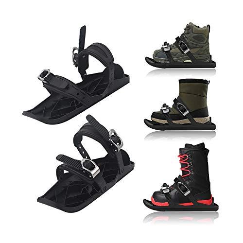 YYBF Mini Patines De Esquí para Nieve Esquí Ajustable Mini Trineo Snowboard Wall Sport Ski Boots - Zapatos De Snowboard para Viajes Al Aire Libre (Zapatos No Incluidos)