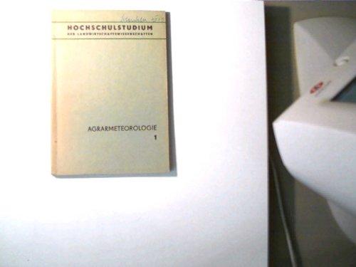 Agrarmeteorologie - Heft 1,
