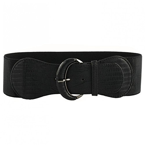 VOCHIC PU Leather Elastic Wide Belt for Women Ladies Dress Stretch Thick Waist Belts