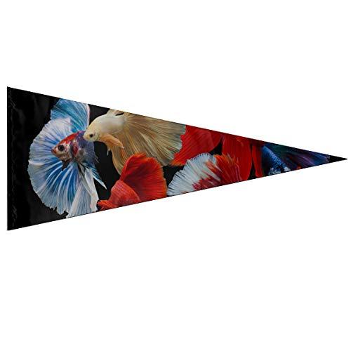 Bannières colorées Drapeaux de combat siamois multicolores Poissons de lutte contre la rosette Betta Bannière Drapeaux Décorations Classique 12 X 30 pouces Doux et durable pour l'extérieur et l'intér