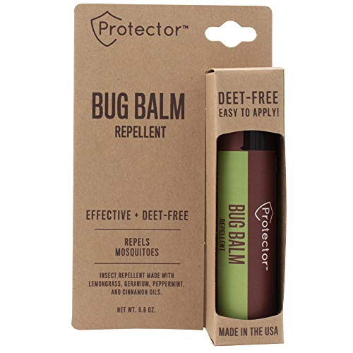 Protector Bug Balm Repellent Stick - DEET-Free Mosquito Body Balm.6-Ounce (2 Pack)