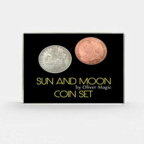 blue-ther Sun and Moon Coin Set Magic Coin Magic Tricks Illusion Close up Magic Coin Appearing/Vanish Stage Magia Props Gimmick