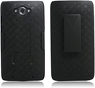 Motorola Droid Turbo Case - Belt Clip Holster Cover Shell Kickstand Criss Cross Black New Plaid Design, Motorola Droid Turbo XT1254