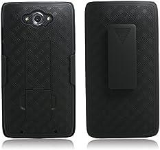 Motorola Droid Turbo Case – Belt Clip Holster Cover Shell Kickstand Criss Cross..
